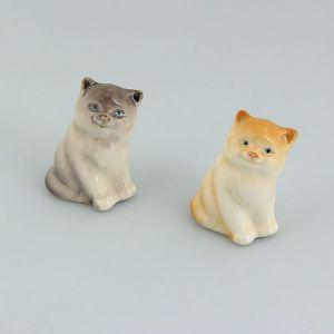 Сувенир «Кот Мурзик», 3?3?4 см, микс, ручная работа, фарфор 1464431