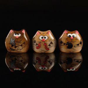 Сувенир «Котёнок Веня», 3,5?3 см, микс, селенит 2875933
