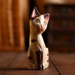 """Сувенир дерево """"Котёнок"""" 18х6,5х3,5см 3370282"""