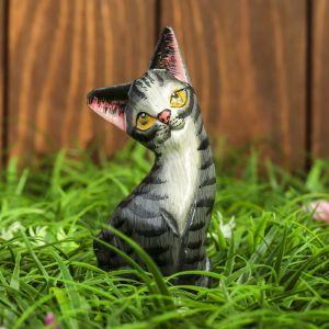 "Сувенир дерево ""Котёнок"" серенький 4,5х2,5х12 см    3370281"