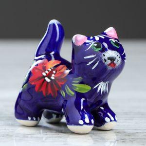 """Сувенир керамика """"Кот с хвостиком"""", 6,5 см, микс"""
