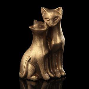 """Сувенир полистоун """"Кошка с котёнком"""" бронза 5х4х2 см 2600643"""