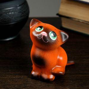 "Фигура ""Котик Мурзик"" 9 см, рыжий 2400376"