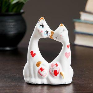 """Фигура """"Коты влюбленные"""" малые белые 5 ? 9 ? 11 см 074 671071"""