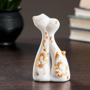 """Фигура """"Коты влюбленные"""" мини 128 белые 3 ? 6,5 ? 12 см 671058"""