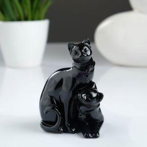 """Фигура """"Коты ключик-замочек"""" черный 7х6х9 см 1102256"""
