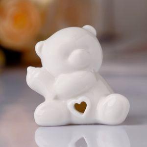 """Сувенир """"Белый медвежонок с бутылочкой"""" 5,5х5,5х4,5 см"""