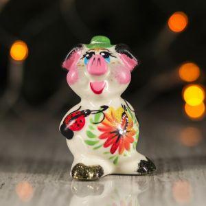 """Сувенир """"Наф-наф"""", цветы, 9.5 см, керамика, микс"""