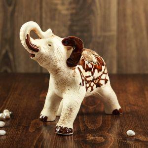 """Статуэтка """"Слон"""" бежевый, 18 см"""