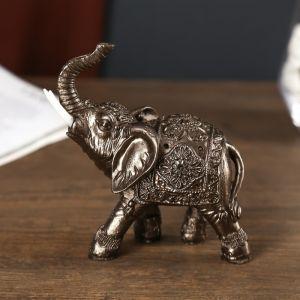 "Сувенир полистоун ""Слон рыцаря"" под металл 8,8х4,8х12 см   4766931"