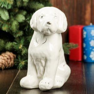 """Сувенир """"Собака Бобик"""" белый, 23 см, керамика"""