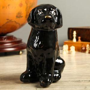 """Сувенир """"Собака Бобик"""" чёрный, 21 см, керамика"""