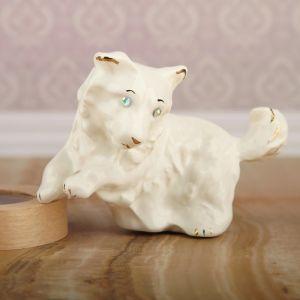 """Сувенир """"Собака"""", глянец, белый, 9 см, керамика"""