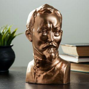 Бюст Дзержинский большой бронза,золото 23 см 1079120