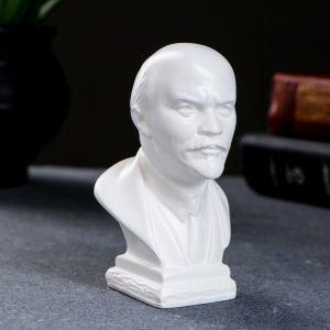 Бюст Ленин средн. белый 10 см 1079127