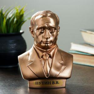Бюст Путин средний бронза 16 см 1186496