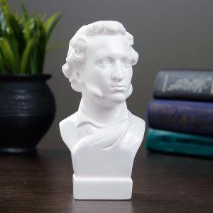 Бюст Пушкин малый белый 5х6х15 см 1102159