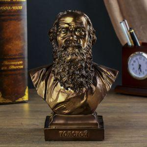 """Сувенир """"Бюст Толстой Л.Н."""" 20,5х15х9,2 см 1753712"""