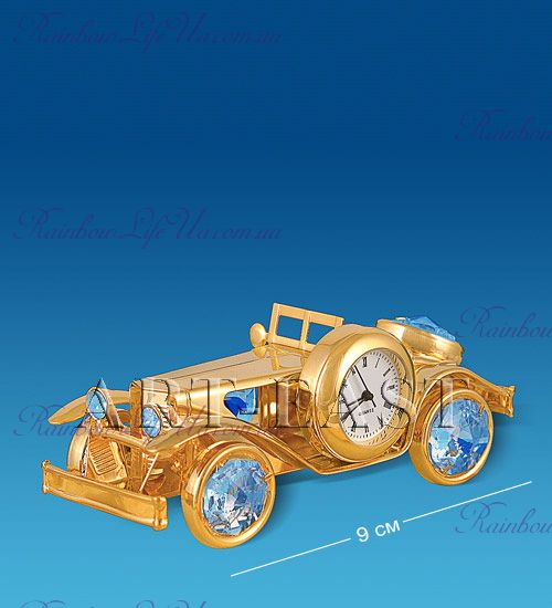 "Часы - фигурка Автомобиль с камнями ""Swarovski"""