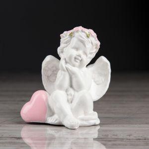 """Статуэтка """"Юля"""", розовое сердце, 7 см"""