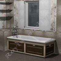 """Экран под ванну с откидными дверцами 170/150 см с торцевой/ без торцевой дверки """"Лестер"""""""