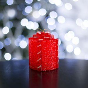 """Игрушка световая """"Подарок"""" (батарейки в комплекте) 7 х 8,5 см, 1 LED, RGB, КРАСНЫЙ 2315180"""