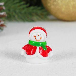 Миниатюра кукольная «Снеговик», набор 2 шт, размер 1 шт: 2,7?2,3?2,8 см