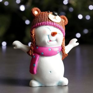 "Фигура ""Снеговик - медвежонок"" 7х11х12см   3865010"