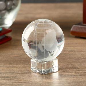"""Сувенир стекло """"Глобус на подставке"""" 6,2х5х5 см   4453206"""