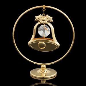 Сувенир «Колокольчик  в кольце», 3?7?8 см, с кристаллами Сваровски 2190673