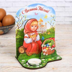 Пасхальный настольный сувенир со свечой «С Великой Пасхой!»