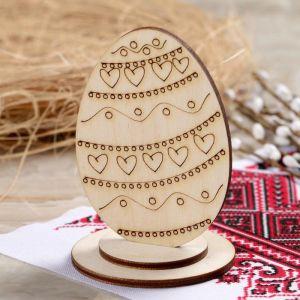 """Яйцо деревянное пасхальное сувенирное """"С Любовью"""", 9?6 см 4962044"""