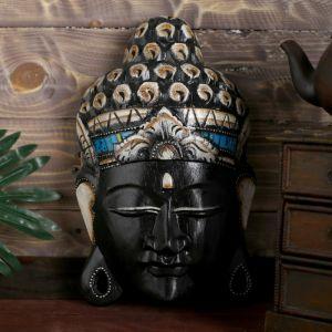 "Сувенир ""Голова Будды"" 30 см, дерево албезия   4491891"