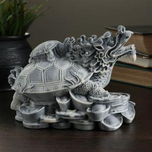 "Сувенир ""Дракон-черепаха на монетах (большой)"" 13см   4011968"