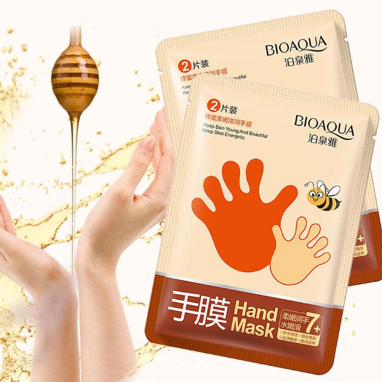 Медовая маска-перчатки для рук BioAqua Honey Hand Mask