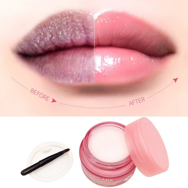 Ночная маска для губ увлажнение и восстановление BIOAQUA Lip Sleeping Mask, 20гр (с кисточкой для нанесения)
