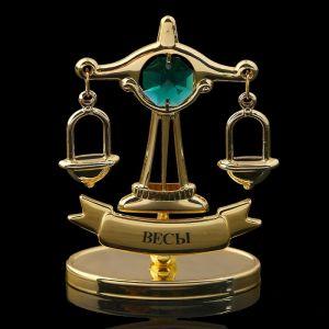 Сувенир знак зодиака «Весы», 7?2,3?9 см, с кристаллом Сваровски 798568