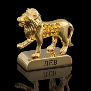 Сувенир знак зодиака «Лев», 5?2?5 см, с кристаллами Сваровски 798554