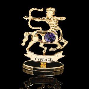 Сувенир знак зодиака «Стрелец», 9,5?4?6,5 см, с кристаллом Сваровски 798570