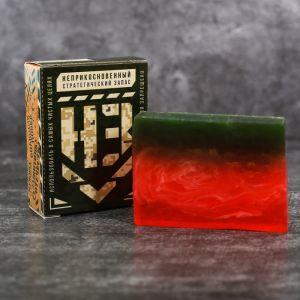 """Мыло в подарочной коробке """"Неприкосновенный статегический запас"""" арбуз 3936358"""