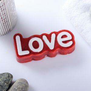 "Мыло фигурное ""Love"" на красном 80гр   4728151"