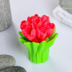"""Мыло фигурное """"Букет тюльпанов"""" 120г   4142659"""