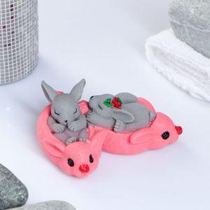 """Мыло фигурное """"Кролики в тапках"""" 105 г   3877408"""