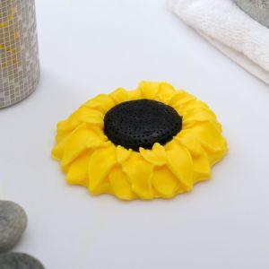 """Мыло фигурное """"Подсолнух 2D"""" жёлтый 105 г   4716080"""