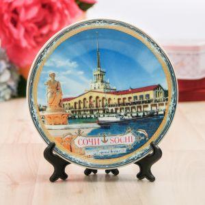 Сувенирная тарелка «Сочи», d=15 см