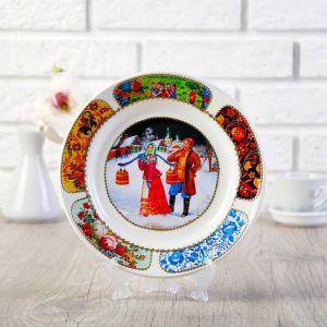 Тарелка декоративная «Деревенская пара», D = 20 см 2449844
