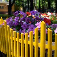 Забор декоративный Полимерсад-8 (цвет желтый)_1