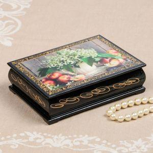 Шкатулка «Ландыши в кувшине», 10?14 см, лаковая миниатюра 2314255