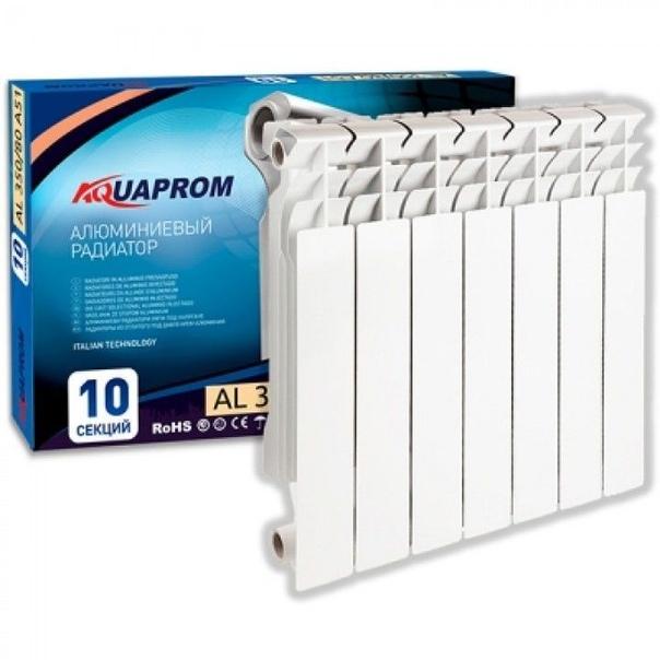 Радиатор алюминевый AQUAPROM A21 (500х80х80) 10 секций