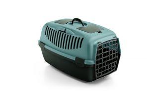 Переноска Stefanplast Gulliver 2 фиолетовая до 8 кг с пластиковой дверкой 55х36х35см для кошек и собак